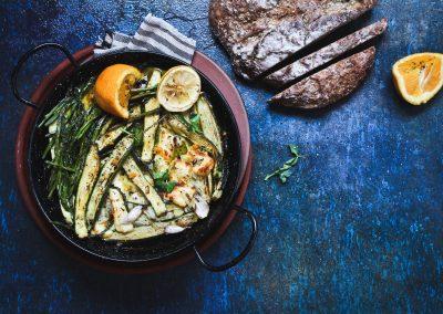 Haloumi and vegatable bake
